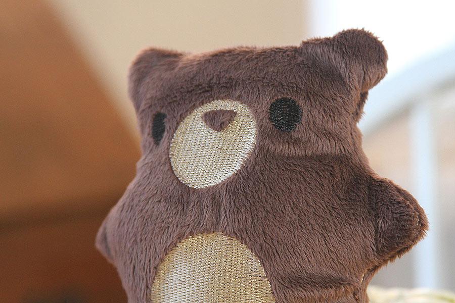 Brown plush bear handmade