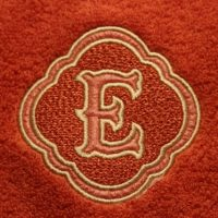 beautiful monogram on blanket