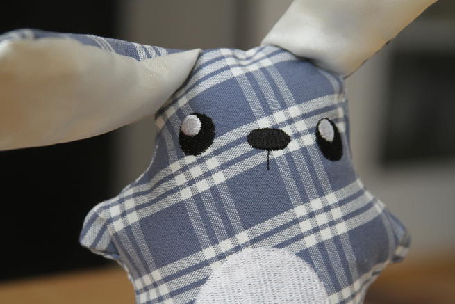 Closeup of the personalized bunny