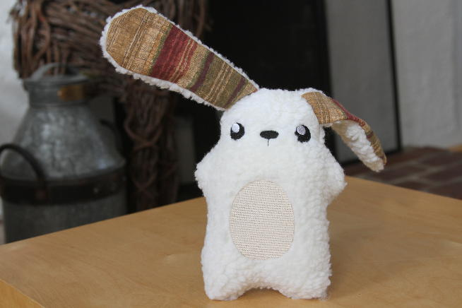 This plush rabbit is so soft and you can personalize it