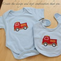 Baby bib and onesie personalized and organic