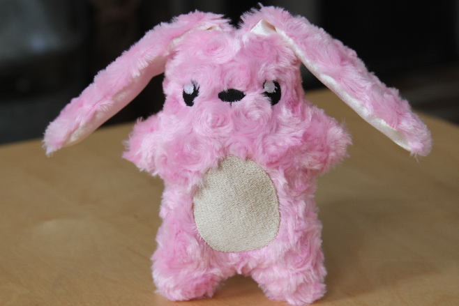Pink Easter Bunny over the top but soft and cute