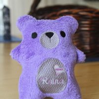 personalized purple teddy bear